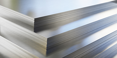 Stacked aluminum sheets