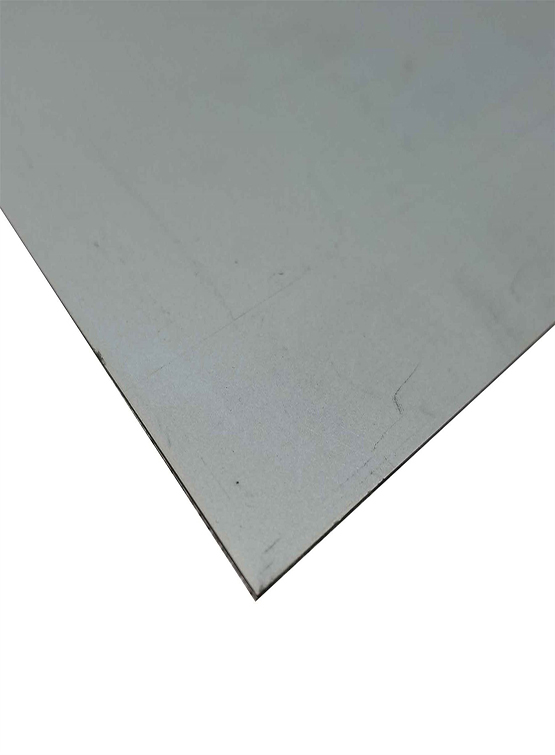 Stacked aluminum sheets as substrates.
